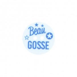 20mm Polyester Button - Beau Gosse