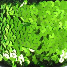 Galon paillettes élastique vert