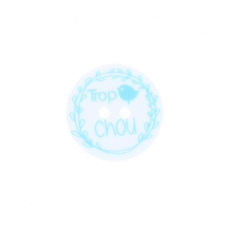 Bouton polyester 20mm - Trop chou
