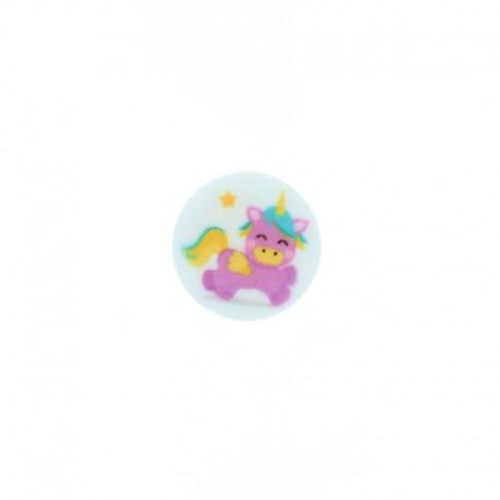 Bouton polyester Unicornia 15 mm - Violet