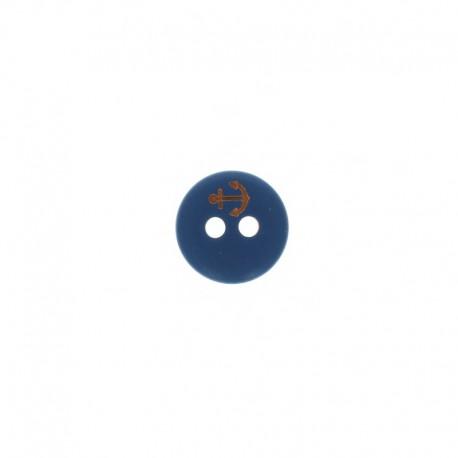 Bouton polyester Little Anchor 12 mm - Bleu marine