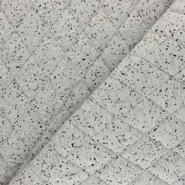 Tissu jersey doublure matelassée Chiné - gris clair x 10cm