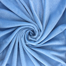 Nicky Fleece fabric Doto - lavender blue x 10cm
