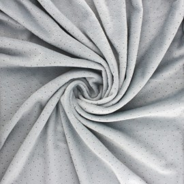 Nicky Fleece fabric Doto - grey x 10cm