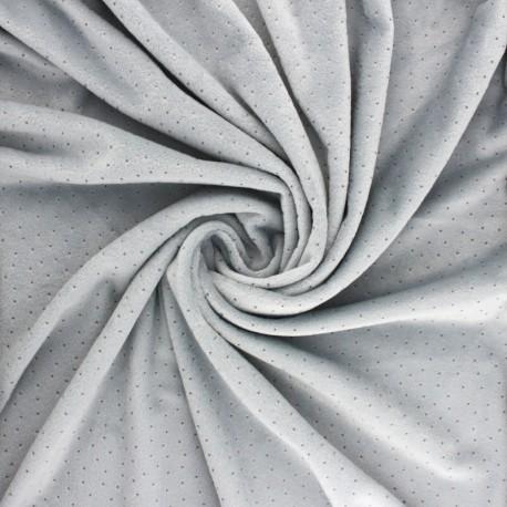 Nicky Fleece fabric Doto - grey x 10cm