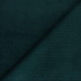 Tissu velours grosses côtes - vert pin x 10cm