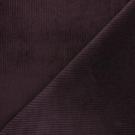 Thick ribbed velvet fabric - Pine green x 10cm