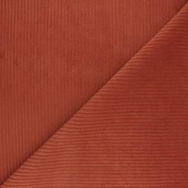 Tissu velours grosses côtes - Carotte x 10cm