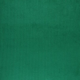 Thick ribbed velvet fabric - Spring Green x 10cm