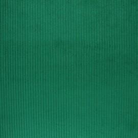 Tissu velours grosses côtes - vert printemps x 10cm
