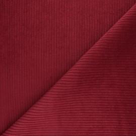 Tissu velours grosses côtes - rouge cardinal x 10cm