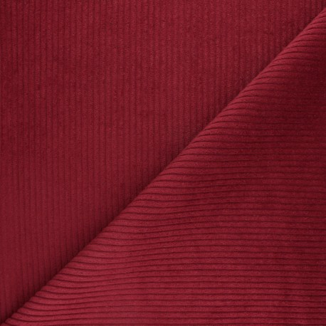 Thick ribbed velvet fabric - Spring Green x 10cm