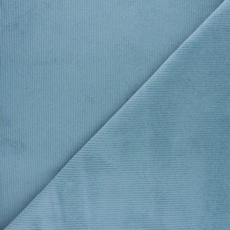 Ribbed velvet fabric Dustin - night blue x 10cm