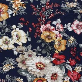 Tissu viscose Rita - bleu x 10cm