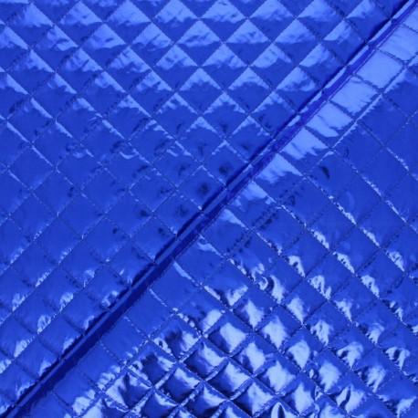 Tissu matelassé métallique Wonka - bleu x 10cm