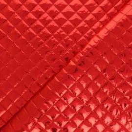 Tissu matelassé métallique Wonka - noir x 10cm