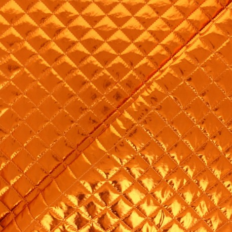 Single-sided Quilted metallic fabric - gold Wonka x 10cm