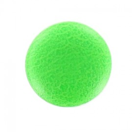 Bouton recouvert simili fluo vert