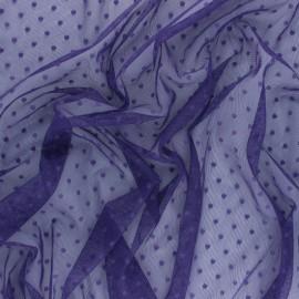 Tissu tulle souple Point d'esprit Millie - vert x 10cm