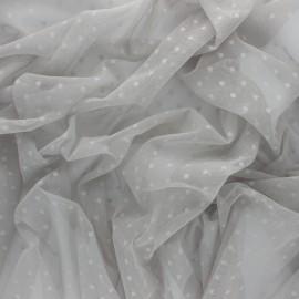 Tissu tulle souple Point d'esprit Millie - blanc x 10cm