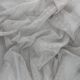 Tulle fabric - light grey Millie x 10 cm