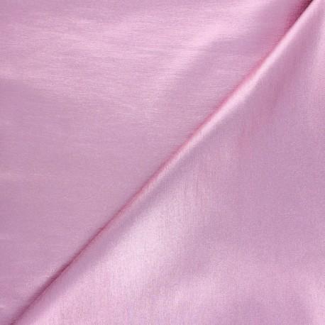 Tissu Bengaline enduit lurex Glow - rose x 10cm