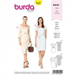 Patron Robe Fluide Burda n°6220