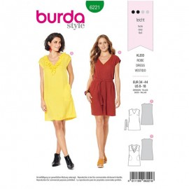 Dress Sewing Pattern - Burda Style n°6221