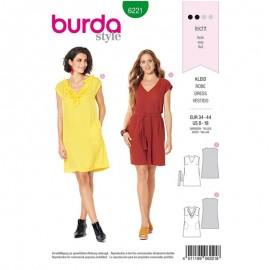 Patron Robe Fluide Burda n°6221