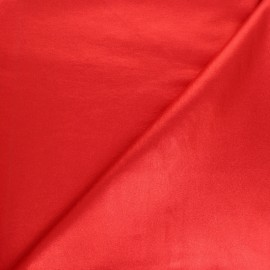 Metallic Coated Bengaline fabric - metallic red x 10cm
