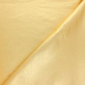 Tissu Bengaline enduit Glow - doré étincelant x 10cm