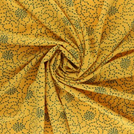 Tissu crêpe élasthanne Roarrr - vert foncé x 10cm