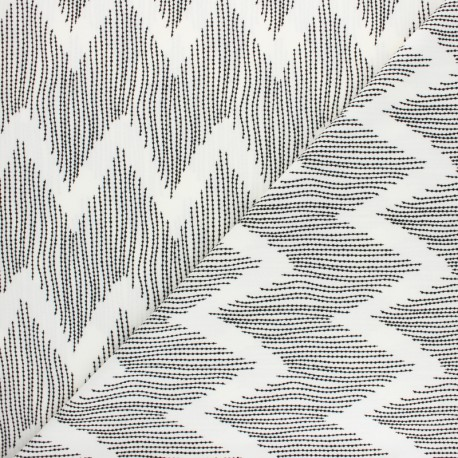 Elastane Crepe fabric - yellow Impressio x 10cm