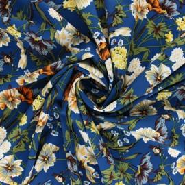 Elastane satin fabric - navy blue Vasco x 10cm