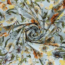 Elastane satin fabric - blue Amandille x 10cm