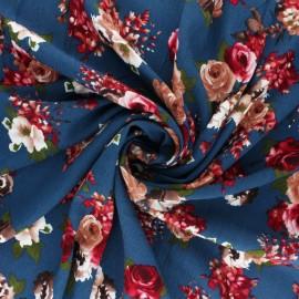 Patterned viscose Fabric - black Antalya x 10cm
