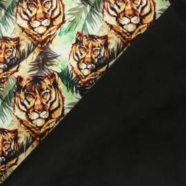 Water-repellent Softshell fabric – Green Jungle Tiger x 10cm