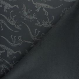 Water-repellent Softshell fabric – deep blue Dinosaurus x 10cm