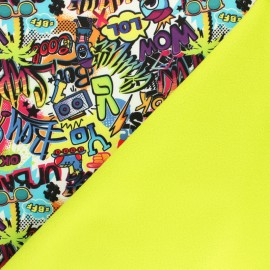 Water-repellent Caraïbes Softshell fabric – multicolor x 10cm