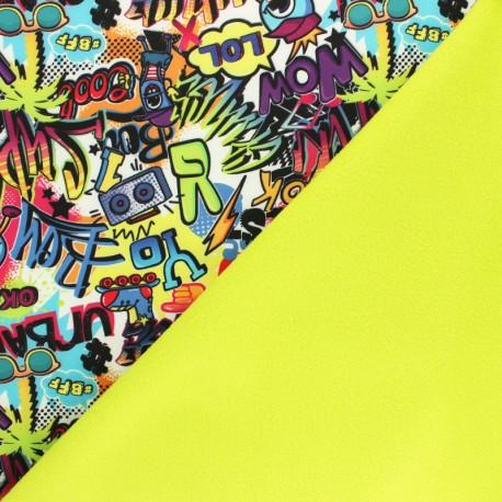 Tissu Softshell Teenage Dream - multicolore x 10cm