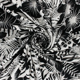 Tissu Jersey lin et Viscose Seminyak - anis x 10 cm