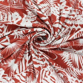 Tissu Jersey lin et Viscose Seminyak - noir x 10 cm
