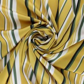 Tissu satin gaufré Stripes - jaune x 10 cm