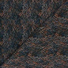 Tissu Viscose Pitonia - Orange x 10cm