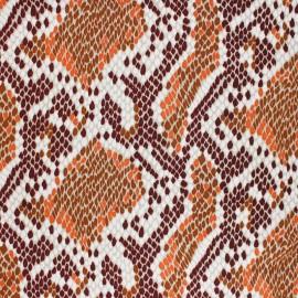Tissu Viscose Reptilia - Marron x 10cm