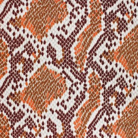 Viscose Fabric - Brown Reptilia x 10cm