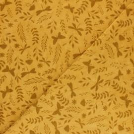 Jersey towel fabric - mustard x 10cm
