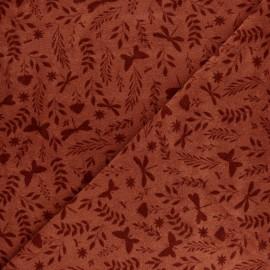 Tissu éponge jersey Jardin de Mai - blanc x 10cm