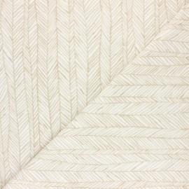 Tissu éponge jersey Botanic stripe - moutarde x 10cm