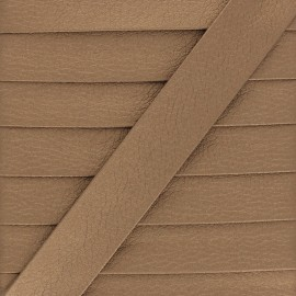 Metallic Faux Leather Bias Binding - Bronze Grained x 1m